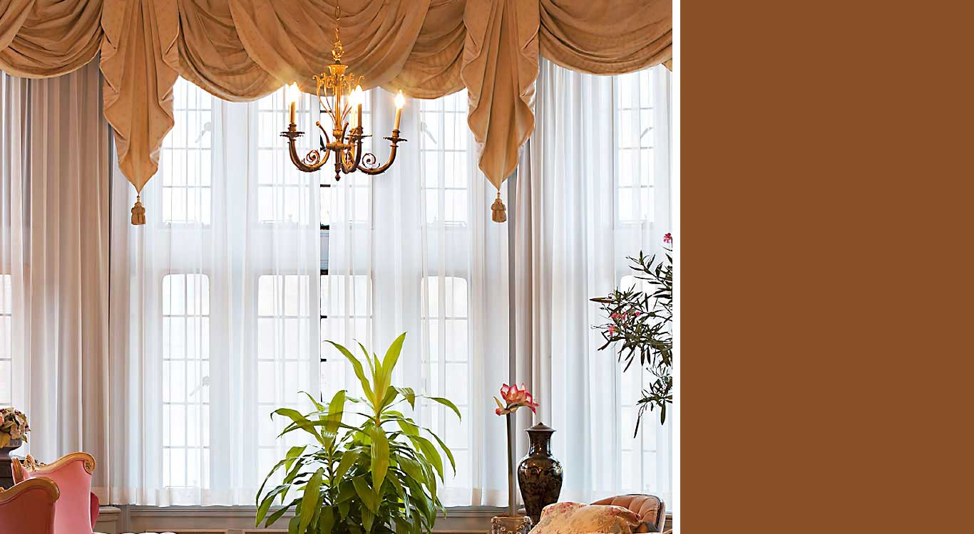 Custom curtains, drapes and valances.