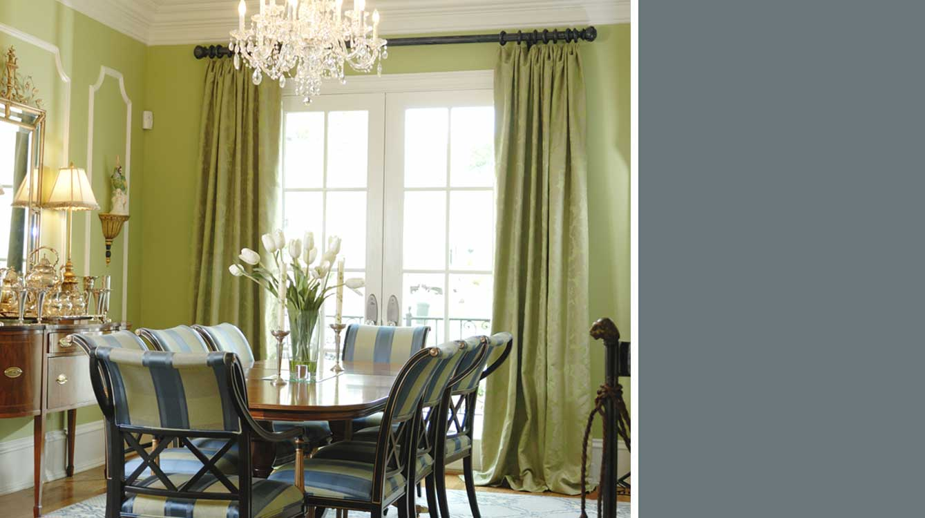 Silk Custom Drapes.