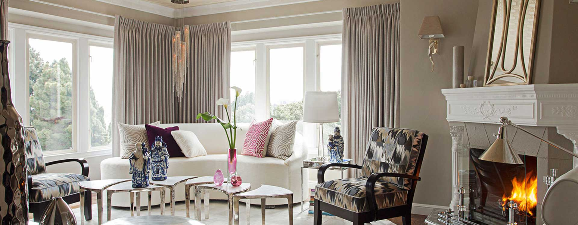 Custom Curtains and Drapes. Pinch Pleat Drapes.