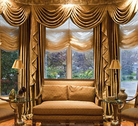 Custom Drapes, Custom Roman Shades
